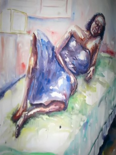 African-Art-paintings-sale-this-week-Waiting-for-Love
