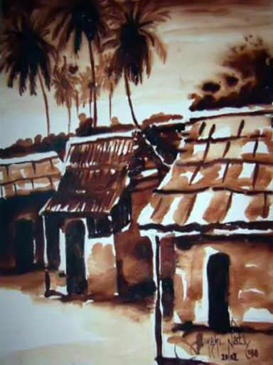 Art-Paintings-buy- this- week-African-Village